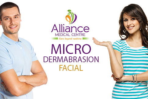 Revive your skin with a microdermabrasion facial and a deep cleanse facial at Alliance Medical Centre for AED 199 only - Valid for men and women!
