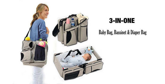 Carry your baby around in 3in1 nursery bag