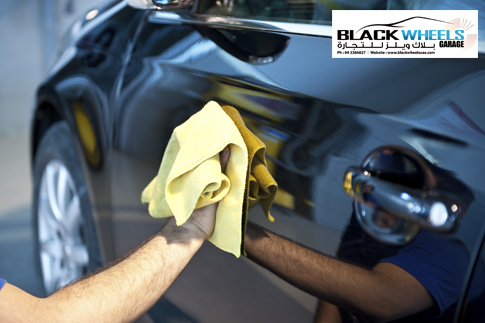 Spruce up your car with a complete car dent and paint restoration, tyre polishing, vacuuming and more from Black Wheels Garage and Trading for just AED 199