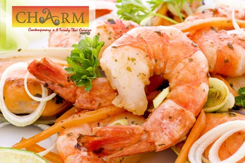 For just AED 35, receive a voucher worth AED 70 to spend on Thai cuisine and seafood at Charm Restaurant