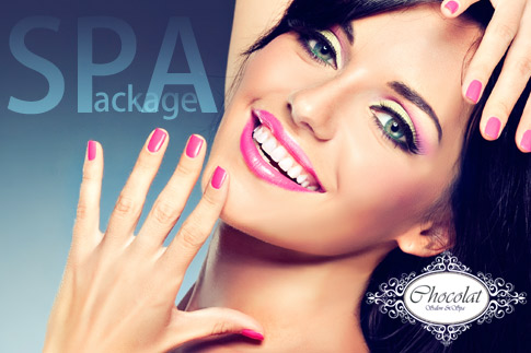 Treat yourself to a Brazilian manicure and pedicure with nail polish, Brazilian paraffin treatment for the hands & feet, 15-minute foot reflexology, 15-minute tropical coconut neck & shoulder massage, all for just AED 59 from Chocolat Salon