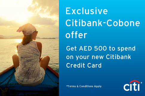 Pay AED 0 for a chance to get a Citibank Credit Card +  AED 500 to spend on your new card!