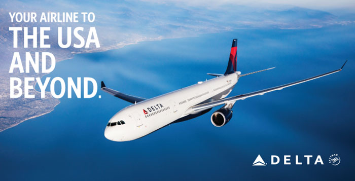 Delta Value Voucher for travel to USA