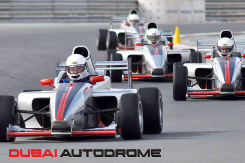 Get an adrenaline rush with a single seater driving experience at the Dubai Autodrome for AED 499 - Valid on weekdays & weekends!