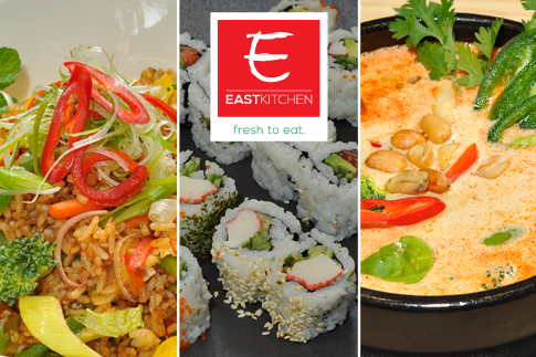 Refresh your karma at East Kitchen by enjoying a meal voucher worth AED 50 for AED 24 on Asian, Chinese, Japanese and Thai dishes!