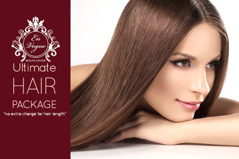 Enjoy a complete Keratin beauty package including a haircut, blow dry and gelish manicure for just AED 199