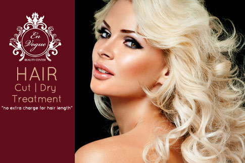 Ladies, fab-up your hair with hair treatment, haircut, blow dry and nail polish change from En Vogue Beauty Centre for AED 49 (Value AED 470)