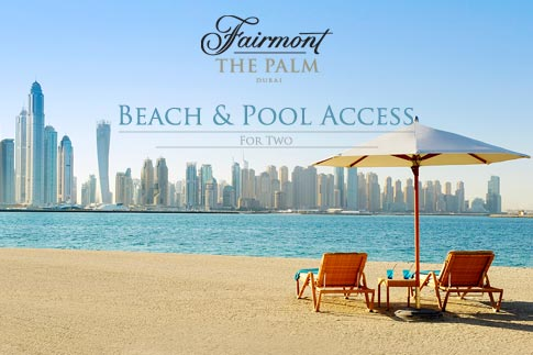 Unwind at Fairmont the Palm with pool and beach day pass for two persons for options starting from AED199 only! Includes access to gym and other facilities too!