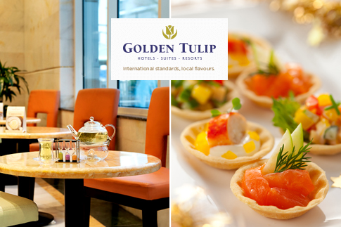 Enjoy a delicious all-you-can-eat sea food buffet or Global cuisine buffet at Golden Tulip Hotel Al Thanyah, Tecom, for AED 69! There's two themes to choose from!