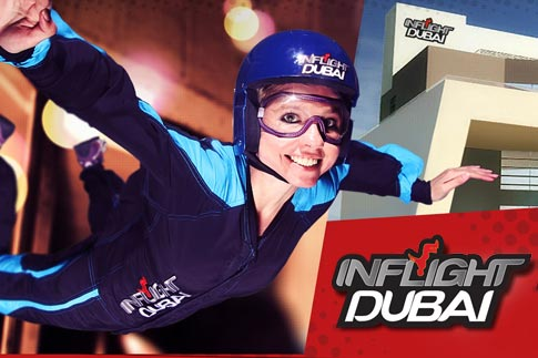 Fly high and celebrate the 43 years of UAE with Inflight Dubai. Pay only 43% for an indoor sky diving experience starting from AED 112! Choose from three silver package options available for one, two or a family of five flyers!