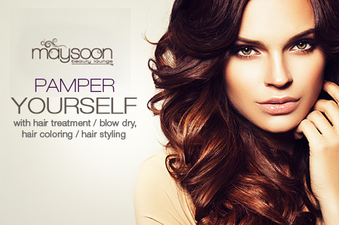 Get your locks pampered with a hair treatment, blow dry, colour and styling from Maysoon Salon, Ramada Jumeirah starting from AED 20 - Two options available
