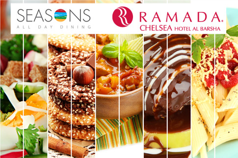 Feast on a delicious and wide spread International lunch buffet at Seasons Restaurant in Ramada Chelsea Hotel for AED 49 per person