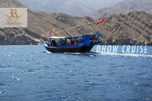Sail through the crystal clear Omani waters with a Musandam Dhow Cruise including transportation, a lunch buffet, unlimited water & soft drinks, fishing, swimming, snorkelling and a banana boat ride for just AED 189 per person