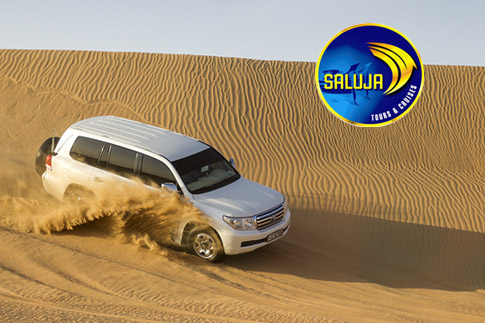 Enjoy an early evening or night desert safari with Saluja Tourism, prices starting from AED 99!