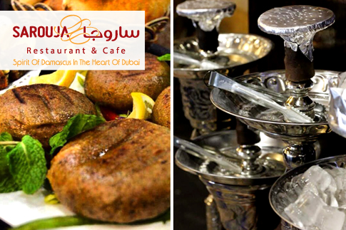 Pay AED 39 and get a voucher value of AED 80 to spend on anything from the menu – including shisha! - at Sarouja Restaurant and Café in Dubai Marina!