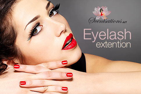 Give that oomphalicious boost to those fluttery lashes with a full set eyelash extension including eyebrow and upper lip threading at Scentsation Ladies Salon JLT starting from AED 99