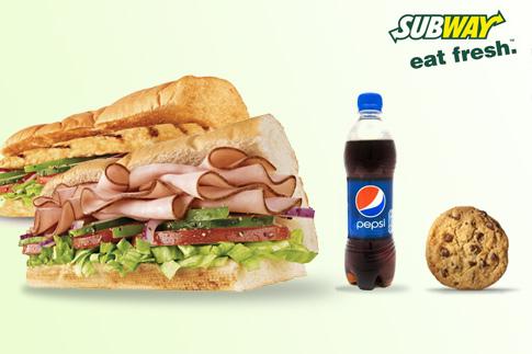 Visit Subway™ and enjoy two