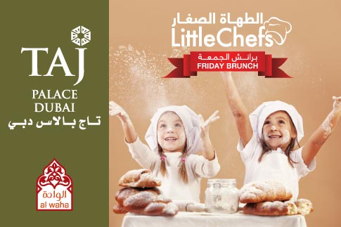 Feast on a splendid Little Chefs Friday brunch and let your children enjoy their own culinary creations at Taj Palace Hotel Dubai including salads, appetizers, main course, desserts and juices for AED 80 per person. A perfect family Friday outing!