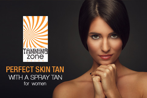 Get that perfect golden brown look with a spray tan session from Tanning Zone for AED 95 - Show off the tan within 15 minutes