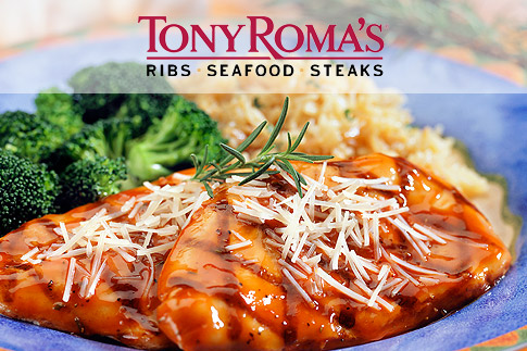 Relish one of Tony Roma's Chicken or Fish set menus including a soft drink, your choice of Grilled Chicken Artichoke Flatbread or Steak Mushroom Flatbread as an appetizer, your choice of main course and a hot beverage (tea or coffee) for only AED 75