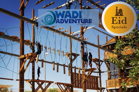 Splash up your Eid holidays at Wadi Adventure, Al Ain with two exciting options including a combo meal and Adventure selections starting from AED 170
