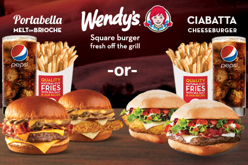 Your Wendy's craving ends here! Enjoy a Ciabatta or Portabella Melt on Brioche with fries and a drink for only AED 15 at Wendy's - Valid at 18 locations across the UAE!