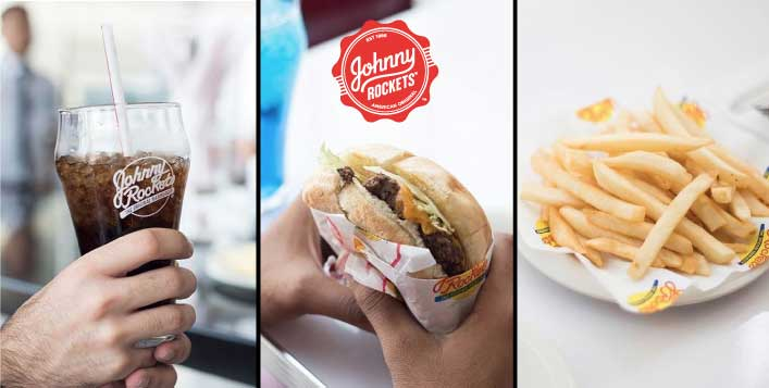 Burger, fries, soft drink - Johnny Rockets