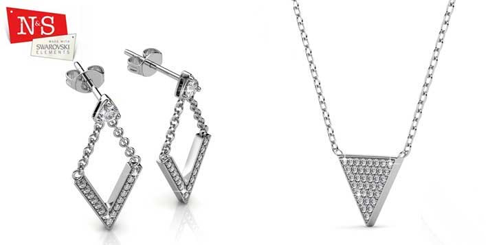 Triangle Jewellery Set from N & S Boutique