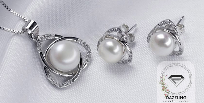 Love Prisoner Silver Pearl Set