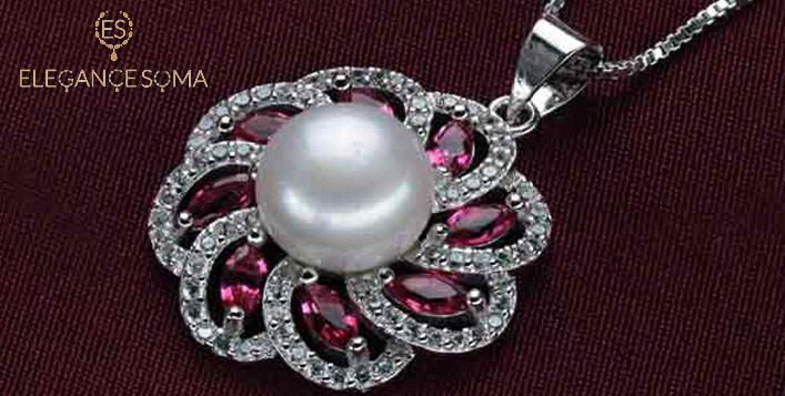 Natural Pearl & Zircon Valentino Set