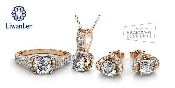 Venecia Set of Pendant, Ring and Earrings
