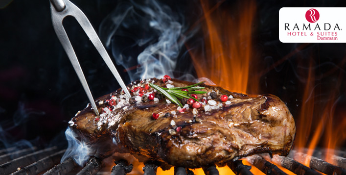 Barbecue Grills Open Dinner Buffet