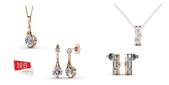 2 Jewellery Set Studded With Swarovski Stones