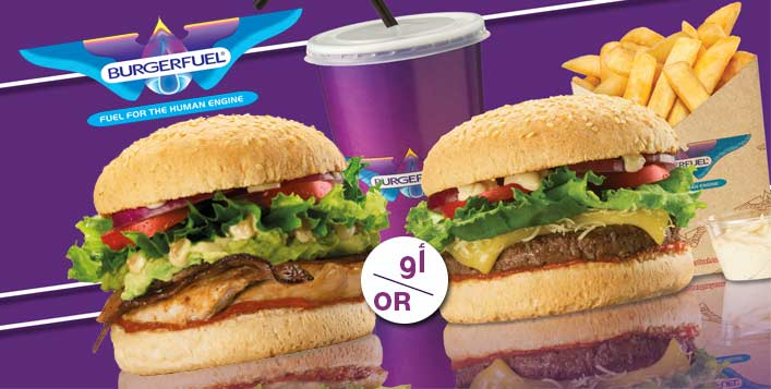 CN Cheese or Burnout Burger Meal