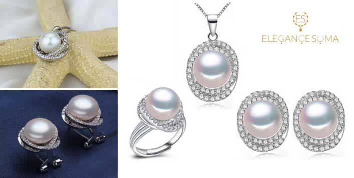 5 Pieces Luxury Set of Natural Pearls