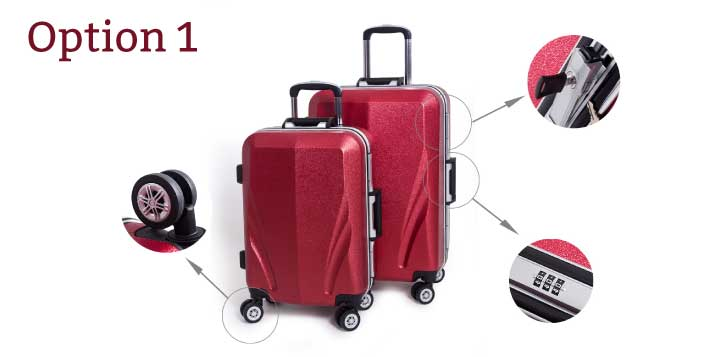 Eurostar 2 Piece Rolling Luggage Bag Set