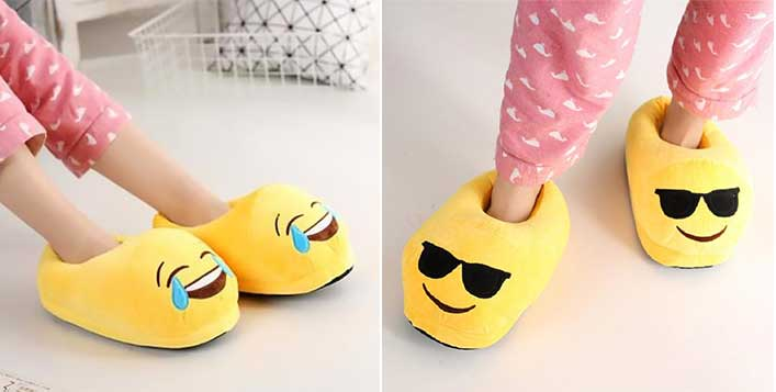 Get your favourite emoji's as slippers!