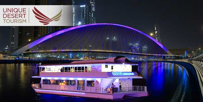 Dubai Water Canal Cruise with Dinner Buffet
