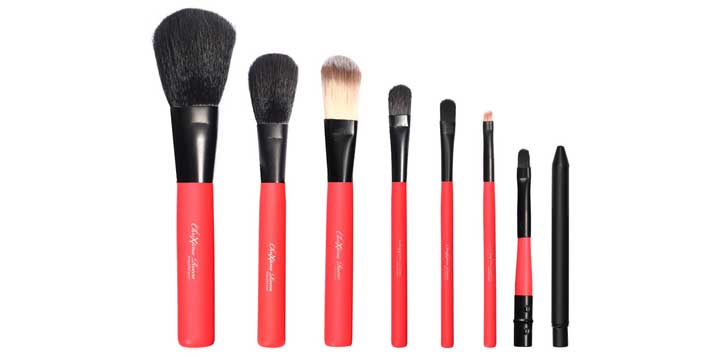 7 Pieces Chrixtina Rocca Makeup Brush Set
