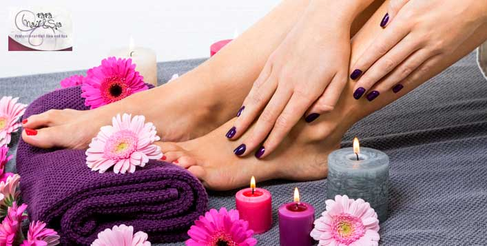 Mani-pedi + relaxation therapy