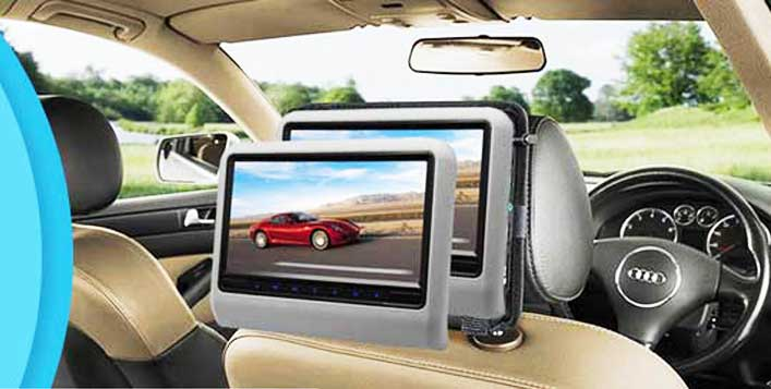 Car Headrest DVD Monitor With Installation