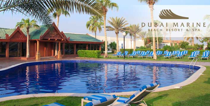 5* Dubai Marine Resort Beach, Pool & Meals