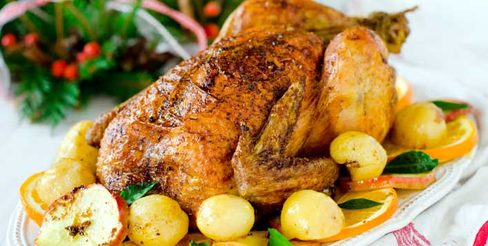 4 or 5 kg Turkey with side dishes