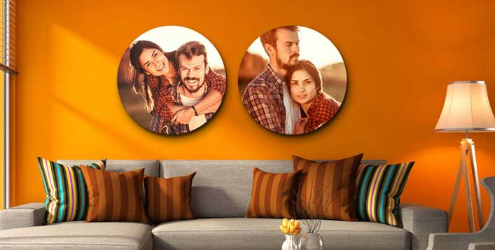 Personalised Round Wrapped Canvas