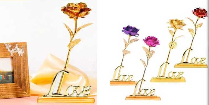 Gold Foil Plated Love Story Rose