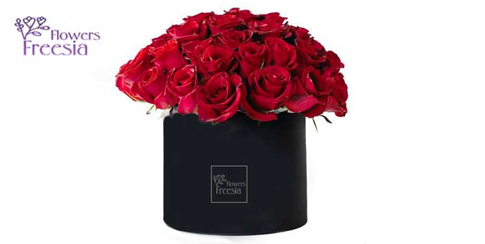 Up to 30 Red roses with optional chocolates