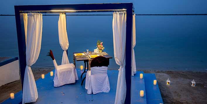 Private beach setup @Palma Beach Resort