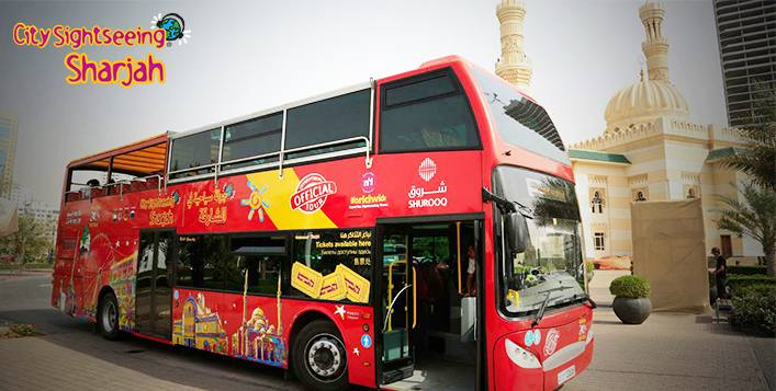 AC double-decker buses with audio guides
