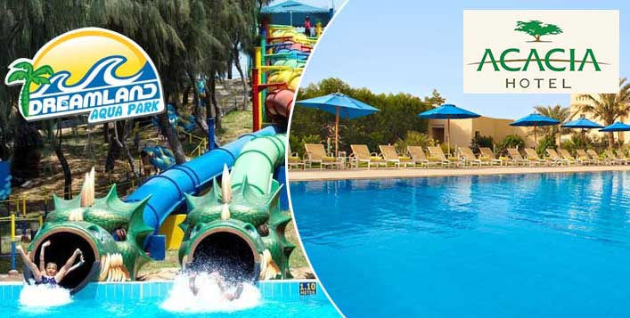 Acacia Hotel Stay, Meals & Waterpark Tickets