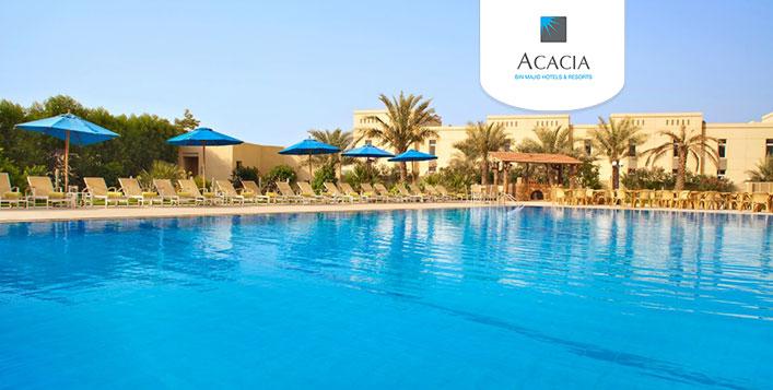 Night stay at Acacia Hotel, RAK
